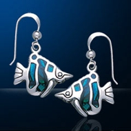 Sterling Silver Tropical Fish Earrings DE 8244