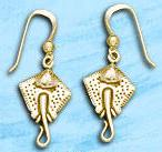 Stingray Earrings DE 0258 in gold