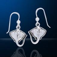 Sterling Silver Manta Ray Earrings DE 0250