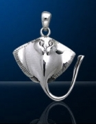 Sterling Silver Stingray Pendant DP 510