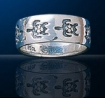 sterling silver turtle band ring