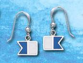 Sterling Silver Alpha Dive Flag Earrings