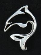 designer sterling silver dolphin pendant