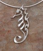 designer sterling silver seahorse necklace