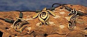 brass designer sea creature jewelry