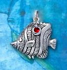 Sterling Silver Butterfly Fish Charm DC 3226