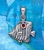 Sterling Silver Butterfly Fish Pendant DP 3226