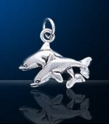sterling silver dolphin charm DC 859