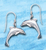 Dolphin Sterling Silver Dangle Earrings DE 824