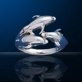 dolphin sterling silver rings DGDR 751
