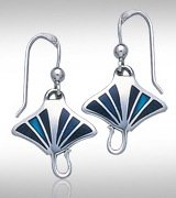 Manta Ray Silver Earrings