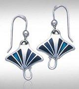 Manta Ray Silver Earrings