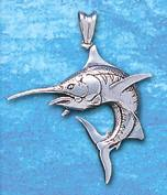 Sterling Silver Marlin Pendant DP 886