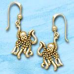 Octopus Earrings DE 8233 in gold