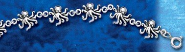 sterling silver octopus anklet jewelry