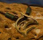 brass artistic shark necklace
