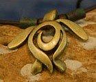 brass artistic sea turtle necklace