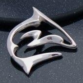 artistic sterling silver shark pendant