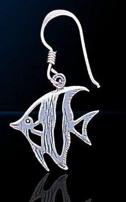 sterling silver fish earring