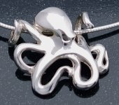 artistic sterling silver octopus pendant