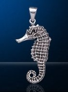 Seahorse Sterling Silver Pendant DP 7823