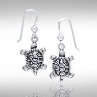 Sterling Silver Terrapin Earrings