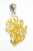 yellow coral pendant DP 3426